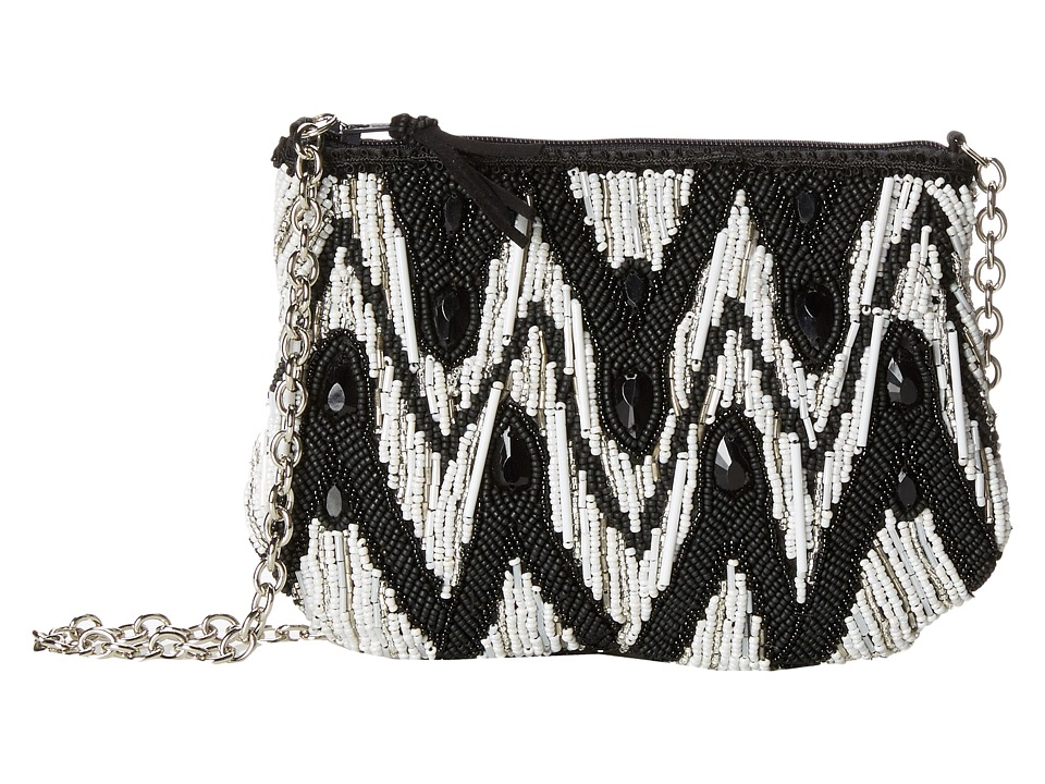 Mary Frances - Jagged Road Mini (Black/White) Handbags