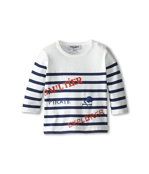 Junior Gaultier - Striped Pirate Explorer Shirt (Infant) (Ecru) Boy's Clothing