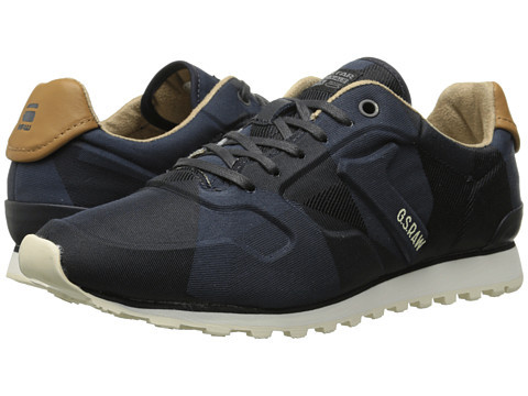 G-Star - Track II Shift Print (Navy Camo) Men's Lace up casual Shoes