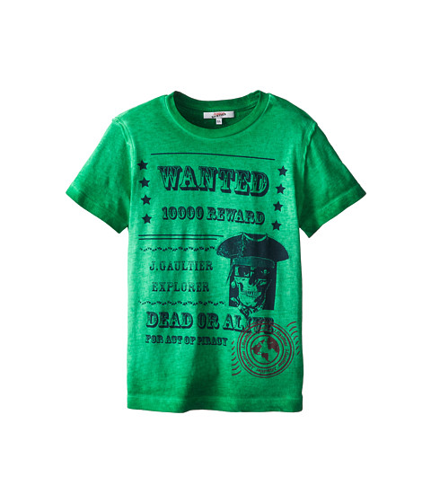 Junior Gaultier - Wanted Tee Shirt (Big Kid) (Trapper Green) Boy