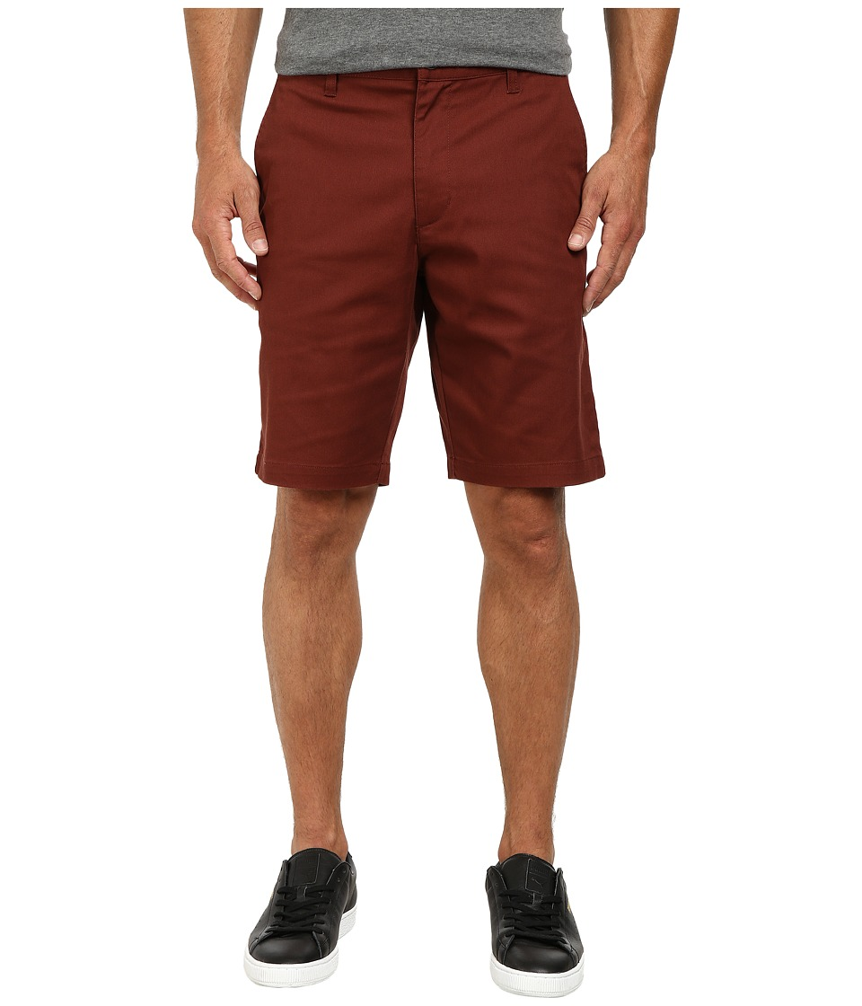 RVCA - The Week-End Stretch Shorts (Red Earth) Men's Shorts