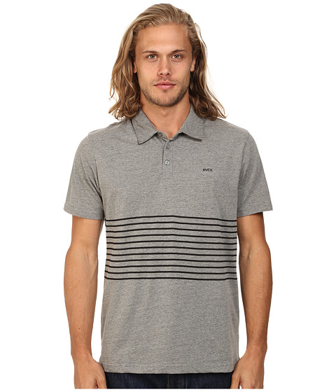 RVCA - Sure Thing Striped Polo (Grey Noise) Men's Clothing