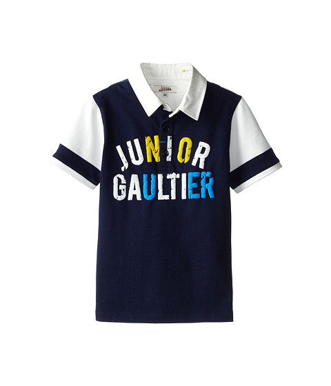 Junior Gaultier - Polo Shirt Norris (Toddler/Little Kid) (Marine Blue) Boy