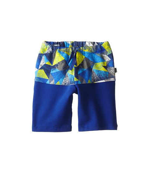 Junior Gaultier - Geometric Print Band Shorts (Toddler/Little Kid) (Deep Blue) Boy