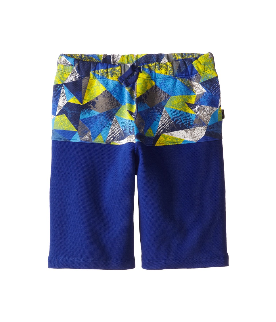 Junior Gaultier - Geometric Print Band Shorts (Big Kid) (Deep Blue) Boy's Shorts