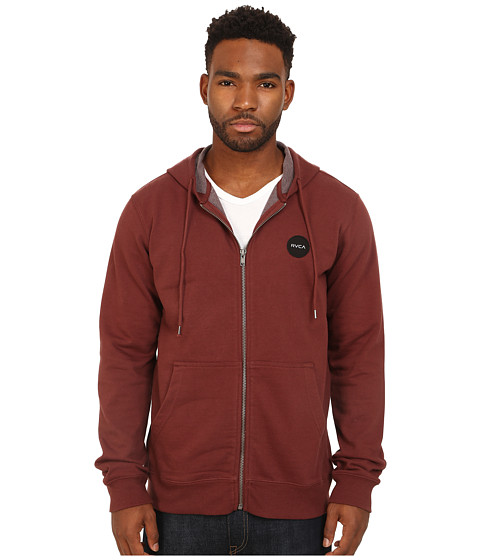 RVCA - Solo Motors Zip Hoodie (Red Earth) Men's Sweatshirt
