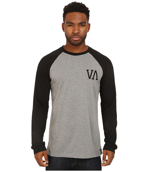 RVCA - Infield Raglan (Grey Noise) Men's T Shirt