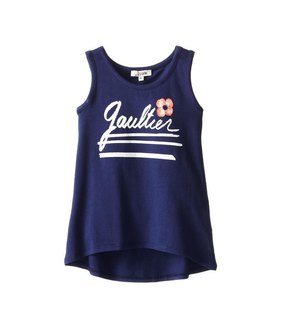 Junior Gaultier - Gaultier Tank Top (Big Kid) (Indigo) Girl's Sleeveless