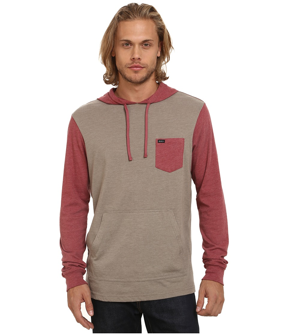 RVCA - Set Up Hood (Dark Khaki) Men's Sweatshirt