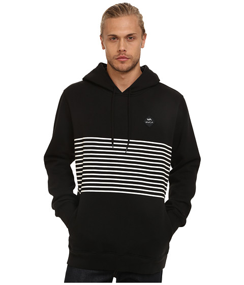 RVCA - Sin Layer Pullover Hoodie (Black) Men's Sweatshirt