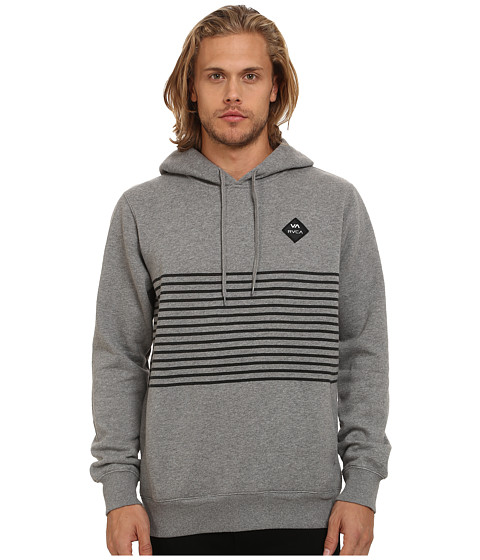 RVCA - Sin Layer Pullover Hoodie (Grey Noise) Men