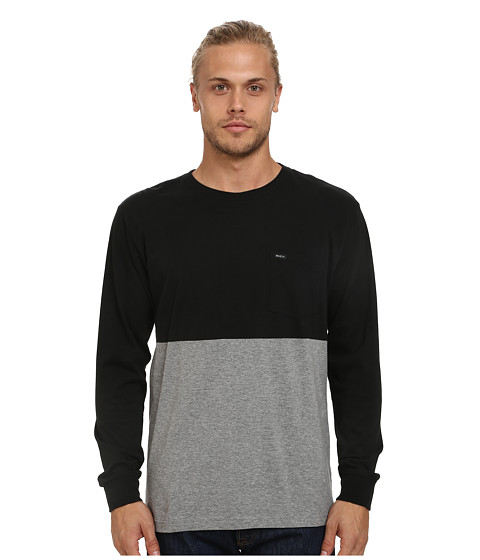 RVCA - Halfway Long Sleeve Crew (Black) Men