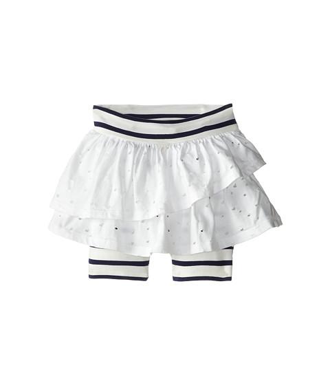 Junior Gaultier - Pierced Ruffled Skirt with Striped Leggings (Toddler/Little Kid) (Ecru) Girl's Clothing