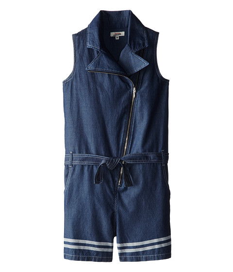 Junior Gaultier - Belted Moto Vest Romper (Big Kid) (Indigo) Girl