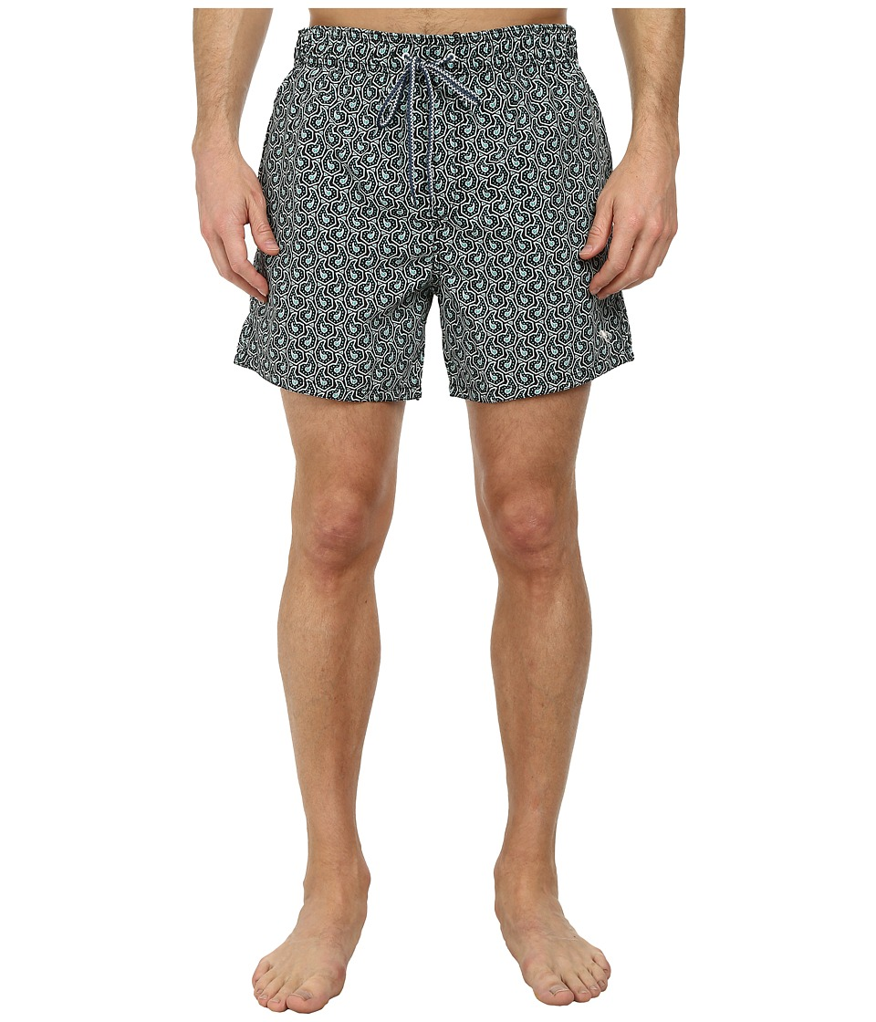 Ted Baker - Fifton Paisley Print Shortti (Navy) Men's Swimwear