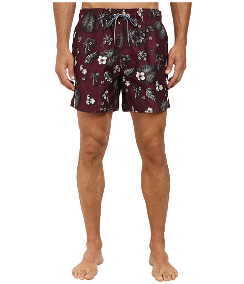 Ted Baker - Neilboo All Over Flower Formal Shorts (Dark Red) Men's Shorts