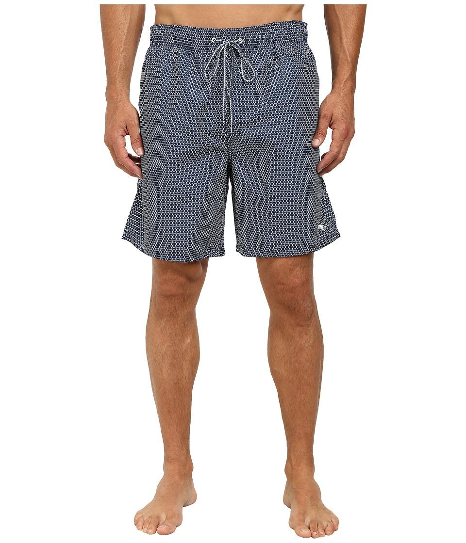 Ted Baker - Sparz Hex Semi Plain Mid Shorts (Navy) Men