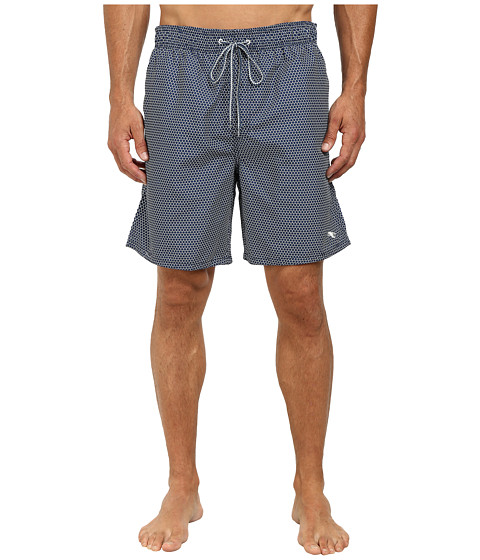 Ted Baker - Sparz Hex Semi Plain Mid Shorts (Navy) Men's Shorts