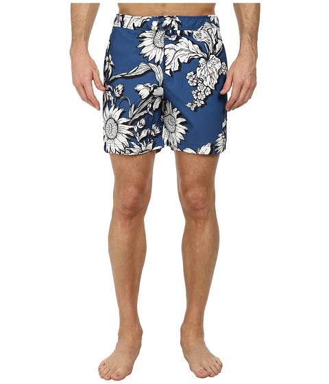 Ted Baker - Jeffpa Oversized Floral Formal Shorts (Blue) Men's Swimwear