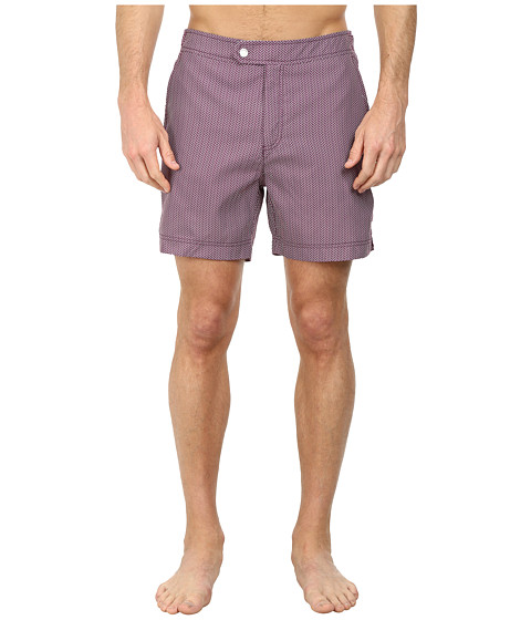 Ted Baker - Riteup Mini Herringbone Formal Shorts (Deep Purple) Men