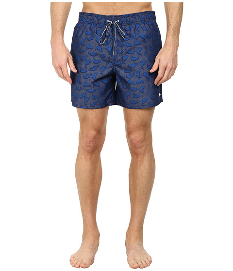 Ted Baker - Janby Pop Fish and Dot Shortti (Bright Blue) Men's Shorts