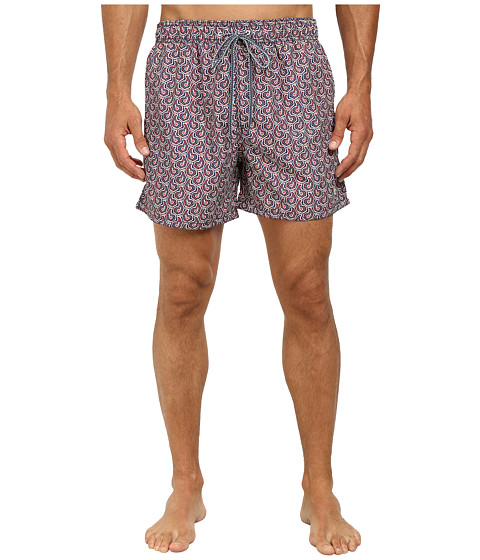 Ted Baker - Fifton Paisley Print Shortti (Blue) Men's Swimwear