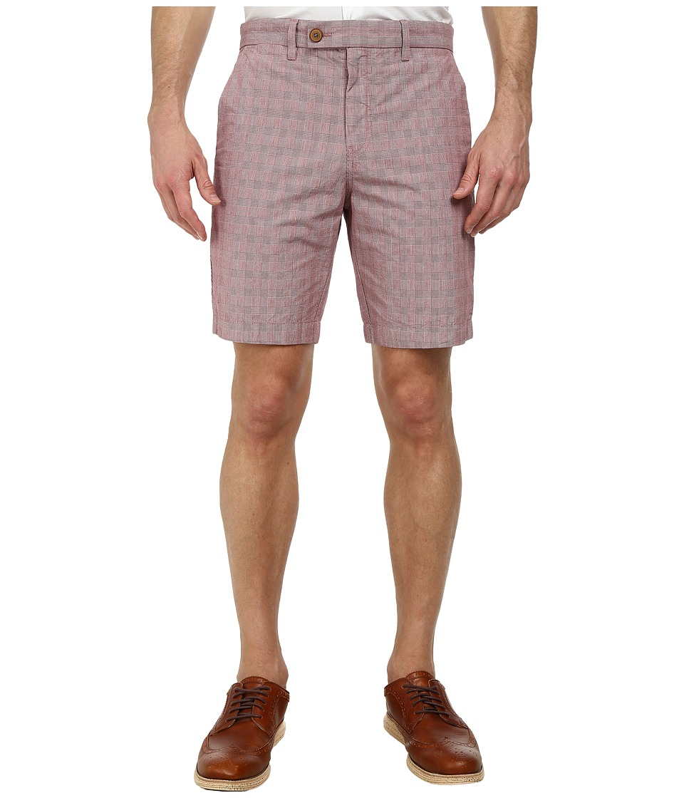 Ted Baker - Ronica Cotton Check Shorts (Red) Men's Shorts