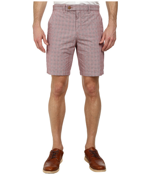 Ted Baker - Ronica Cotton Check Shorts (Red) Men