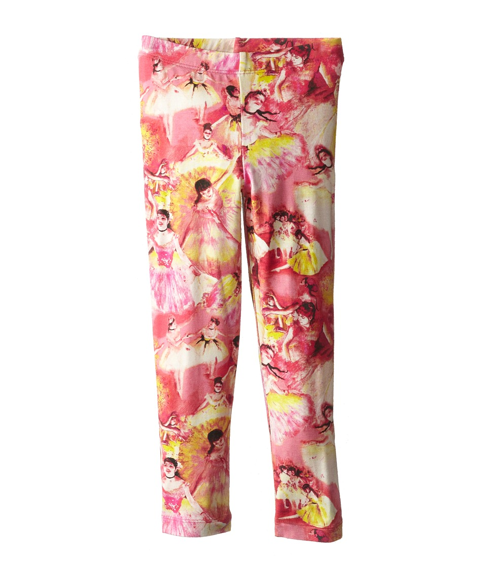 Junior Gaultier - Degas Ballerina Print Leggings (Toddler/Little Kid) (Shocking Pink) Girl's Casual Pants