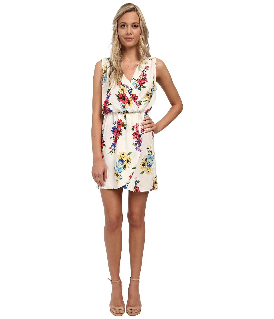 Brigitte Bailey - Dana Floral Wrap Dress (Ivory) Women's Dress