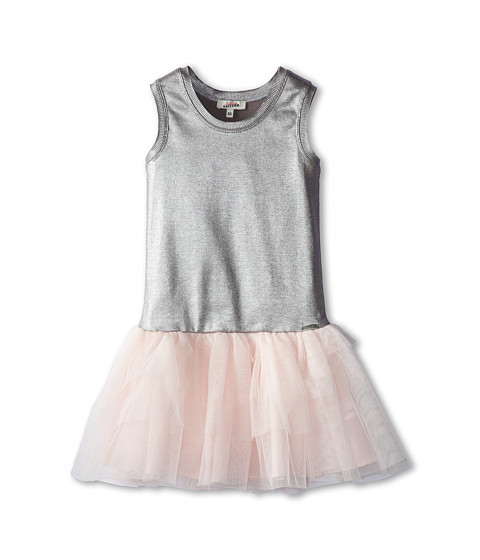 Junior Gaultier - Silver Tank Top with Tulle Skirt Dress (Big Kid) (Petal) Girl