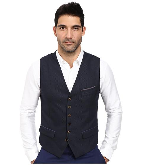 Ted Baker - Satwai Mini Designed Waistcoat (Navy) Men's Vest
