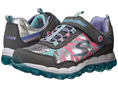SKECHERS KIDS - Skech Glitter Lights 10542L (Little Kid) (Charcoal/Multi) Girls Shoes