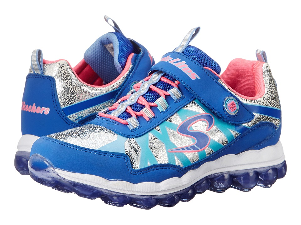SKECHERS KIDS - Skech Glitter Lights 10542L (Little Kid) (Blue/Pink) Girls Shoes