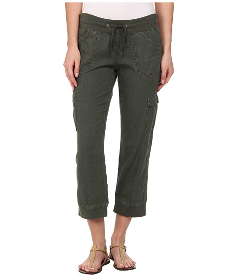 UNIONBAY - Mariana Linen Crop Pants (Fatigue Green) Women's Casual Pants