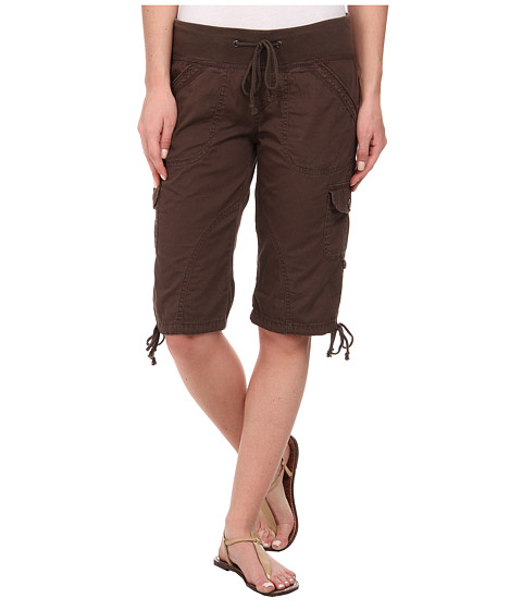 UNIONBAY - Pencey Solid Skimmer Pants (Dark Coconut) Women