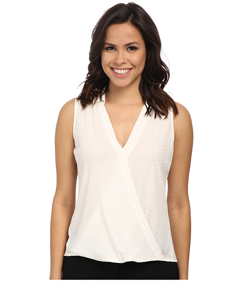 Calvin Klein - Sleeveless Detailed Vegas Blouse (Cream) Women