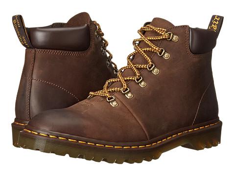 Dr. Martens - Elmer (Dark Brown Burnished Wyoming) Men's Shoes