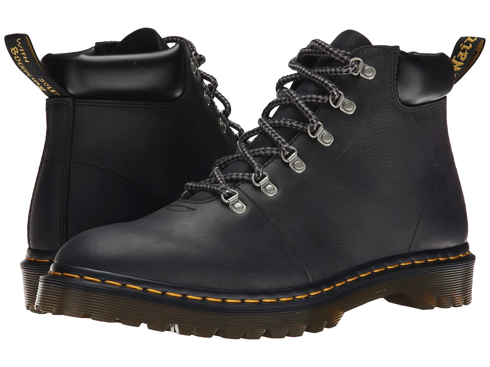 Dr. Martens - Elmer (Black Burnished Wyoming) Men's Shoes