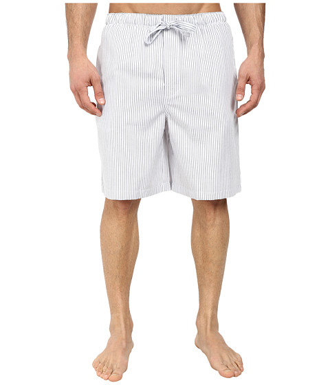 Jockey - Poly/Rayon Sleep Shorts (Navy/White) Men's Pajama