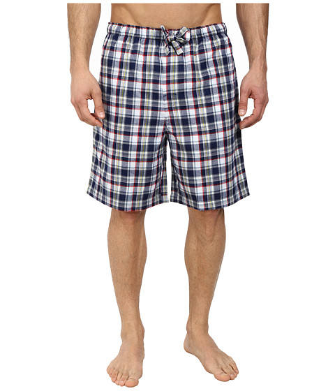 Jockey - Poly/Rayon Sleep Shorts (Navy/Red) Men