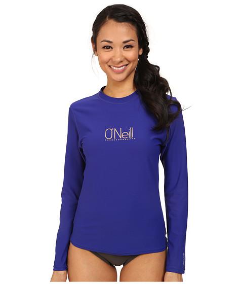 O'Neill - Tech 24-7 Long Sleeve Crew (Cobalt) Women's Swimwear