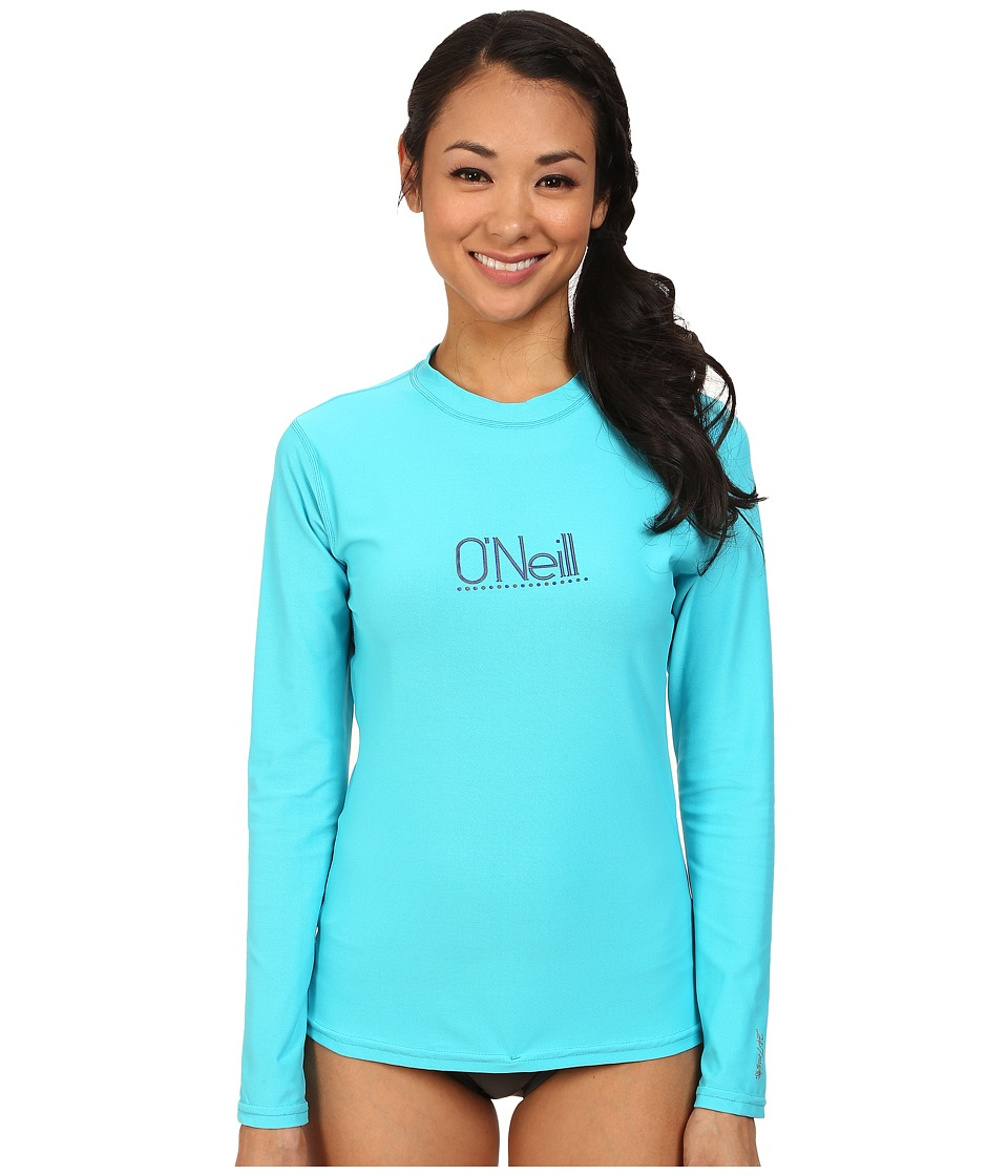O'Neill - Tech 24-7 Long Sleeve Crew (Turquoise) Women's Swimwear