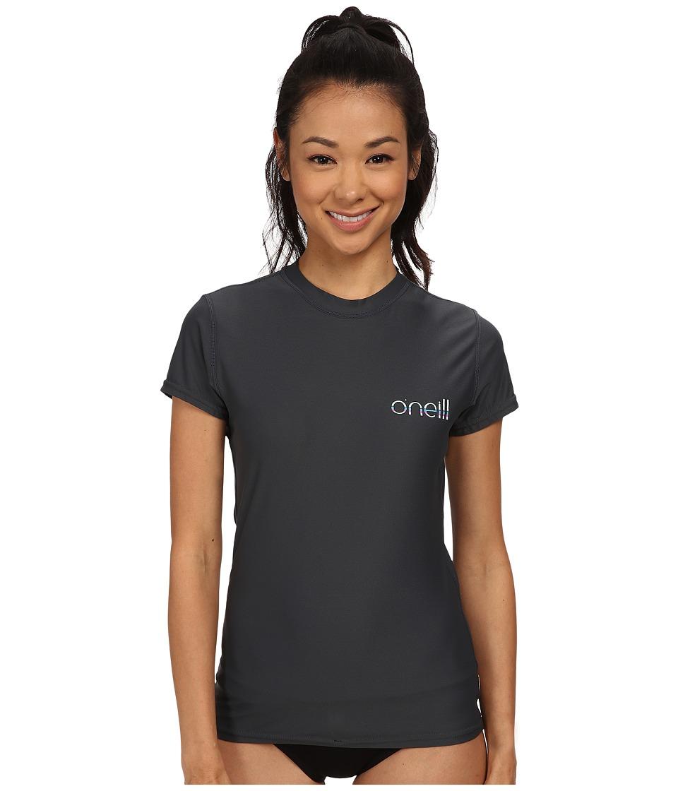 O'Neill - Tech 24-7 Short Sleeve Crew (Graphite) Women's Swimwear