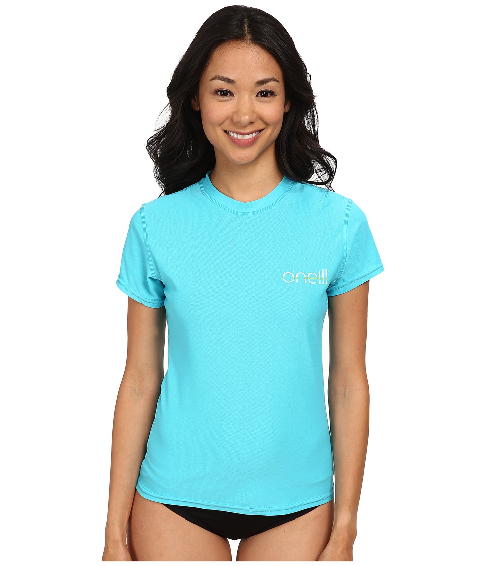 O'Neill - Tech 24-7 Short Sleeve Crew (Turquoise) Women's Swimwear