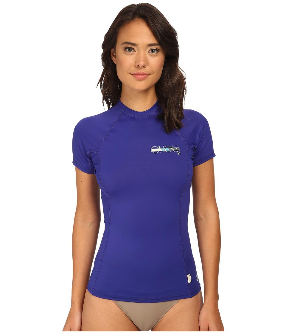O'Neill - Skins S/S Crew (Cobalt/Cobalt/Cobalt) Women's Swimwear
