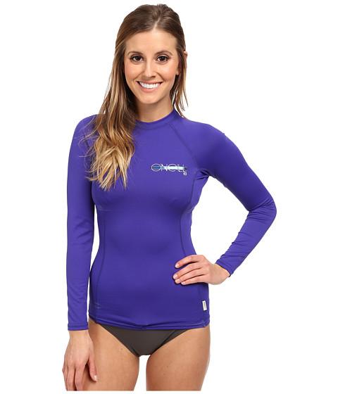 O'Neill - Skins L/S Crew (Cobalt/Cobalt/Cobalt) Women's Swimwear