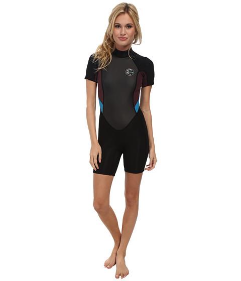 O'Neill - Bahia S/S Spring (Black/Myers/Sky) Women's Swimwear