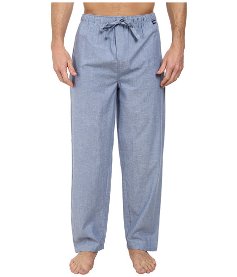 Jockey - Chambray Sleep Pants (Solid Blue) Men's Pajama