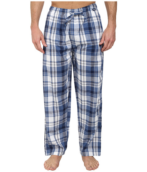 Jockey - Chambray Sleep Pants (Blue/White) Men's Pajama